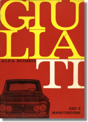 1967 alfa romeo giulia ti owners manual. Black Bedroom Furniture Sets. Home Design Ideas