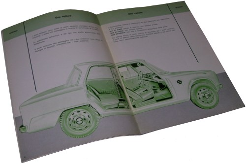 1964 alfa romeo giulia ti super owners manual. Black Bedroom Furniture Sets. Home Design Ideas