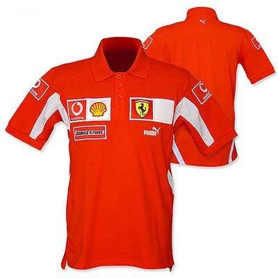 sleeve team polo replica race team polo with various sponsor logos ...