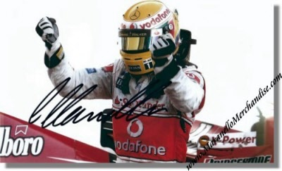 fe8bafcf7f7 2007 Lewis Hamilton signed McLaren Mercedes Photo