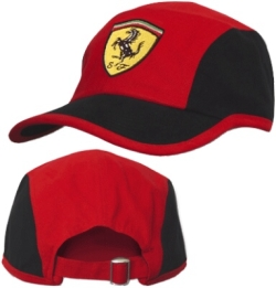 a6c6e0a464e Red and Black Ferrari Cap with Scuderia Ferrari Logo