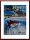 1958 Le Mans Poster Vintage Original in Mint Condition