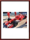 Michael Schumacher signed Ferrari Photo