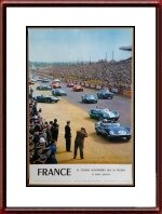 Vintage Original 1960 24 Heures du Mans Poster Department of Transportation