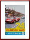 Vintage Original September 1968 24 Hours of Le Mans Poster