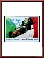 Vintage Original 1969 Mexican Grand Prix Poster