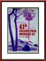 Original 1983 Monaco Grand Prix Poster Limited Edition Numbered