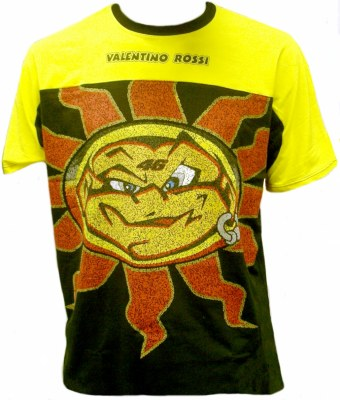Valentino Rossi T Shirt Yellow And Black Sun Val094si