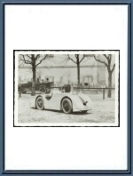 19?? Photograph - Vincent Junek with Bugatti T 32 Tank Chassis 4059