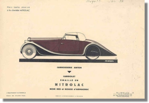 1935 Bugatti Type 57 Bodywork Print Antem Cabriolet Chassis 57200