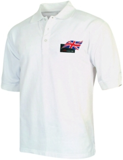 A1 GP Team Great Britain - Flag Polo Shirt - White