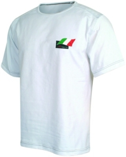A1 GP Team Italy - Flag T- Shirt - White