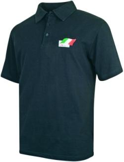 A1 GP Team Italy - Flag Polo Shirt - Black