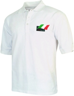 A1 GP Team Italy - Flag Polo Shirt - White