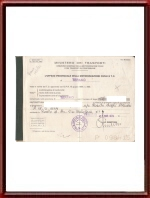 1971 Alfa Romeo Giulia TI Registration Papers