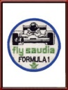 Vintage Fly Saudia - Formula 1 Sew-On Patch
